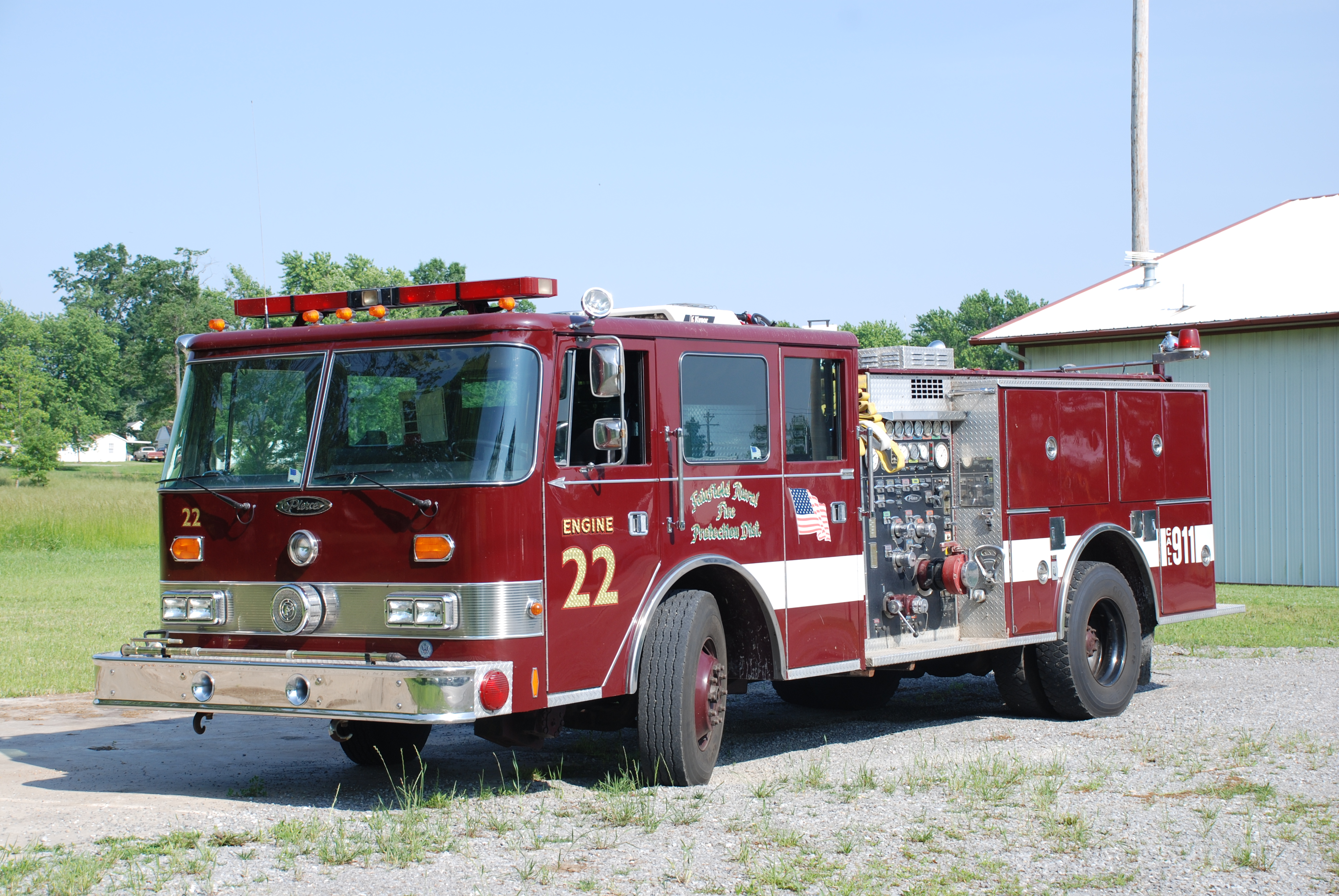 Fairfield Rural Fire Department Equipment Picture Gallery